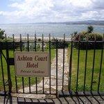 Ashton Court Hotel Gardens with sea view