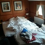 Rooms are small but very nice. Ours had an extra bed.