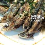 Sardines amb patata al caliu
