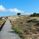 Wooden walkway from Maragas around the headland to Agia Anna