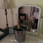 Chilled Champagne in room