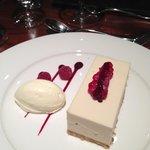 Desert white chocolate cheesecake & boy you can taste white chocolate amazing
