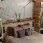 lit chambre bois flotté