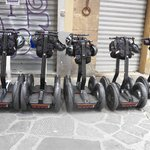 The Segways lined up