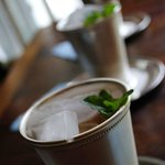 Welcoming mint juleps
