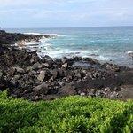 lava rock beach