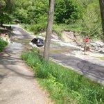 Stream over road