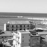 bild över hamnen