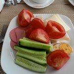 завтрак овощи