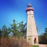 The historic lighthouse at Gibraltar Point
