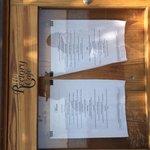 The Rectory cafe menu