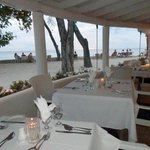 Fabulous dining arrangements right by the sea