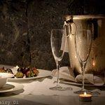 романтическая ванна с шампанским