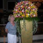 Flower arrangement at the hotel lobby