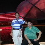 Me (standing) with brother in Law at Ferrari World