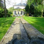 The garden's rill water-feature looking towards the breakfast room
