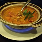 Prawn curry - loved the flame. :)