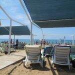 plage privée et transats