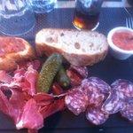 Assiette de charcuterie Maison Garcia -Serrano -  soubressade - chorizo Bellota - saucisson