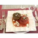 Stuffed tomatoes & peppers (after)
