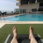 Pool in the sun.