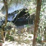 Пещера недлеко от отеля.