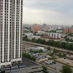 Blick auf Moskau vom 21. Stockwerk