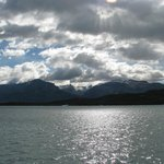 lake crossing to get to estancia