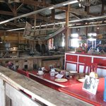 museum on the grounds in the sheep sheering barn