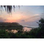 View from Maloka hammock at sunset