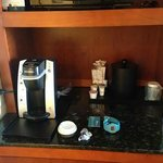 Coffee maker in the room