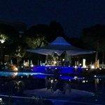 The pretty Blue Bar at night