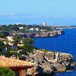 Ausblick vom Balkon Richtung Porto Christo