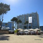 Hotel from beach front