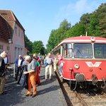 Ankunft mit dem Moorexpress ab Bremen
