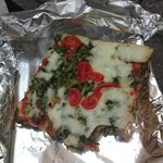 Delicious pizza take away