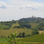 View of San Gimignano from Farm