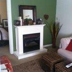 Suite A fireplace