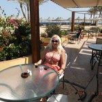 in the beach bar