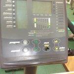 Broken display on exercise bike in Gym