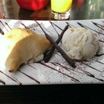 Scrumptious Calzone with ice cream and chocolate sauce