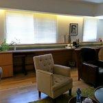 living room & coffee counter
