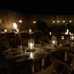 One evening they will serve a traditional dinner in a boma, w/ a fire and music/dancing.