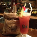 Singapore Sling with Peanuts
