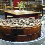 Chocolate and Almond cake in The Full  Stop Cafe
