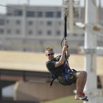 The SandRidge Sky Zip runs 700 ft across the Oklahoma River.
