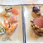 sushi, rostbiff