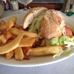 Club Sandwich from room service - delicious