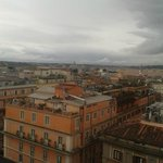 View from the roof garden of Hotel Mediterraneo in Rome