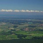 Vue de la plaine d'Alsace depuis le Mont Sainte Odile, Ottrott 67